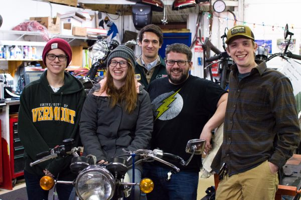 UVM Engineering Students developing the KickMagic Pneumatic Starter for Triumph Motorcycles
