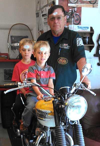 Nick Woodbury and grand kids Classic Bike Experience